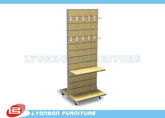 Customized MDF Slatwall Display Units Shelves ODM With Metal Hangers