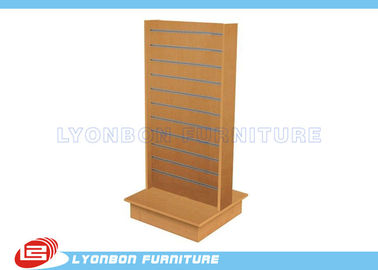 Top Grade Double Side Slatwall Display Stands MDF / Custom Display Rack