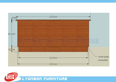 SGS Customized MDF Cash Counter For Shop Payment / 2290mm * 6950mm * 1000mm